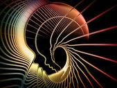 Ruhun geometrisi metafor — Stok fotoğraf