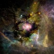 Stock Photo: Glow of Fractal Nebulae