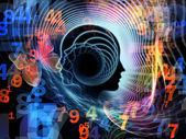虚拟人的头脑 — 图库照片