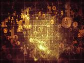数字抽象 — 图库照片