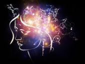 Energy of Inner Thoughts — Stock Photo