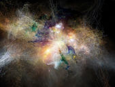 Glow of Fractal Nebulae — Stock Photo