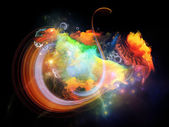 Colorful Design Nebulae — Stock Photo