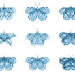 Stock Photo: Virtual Fractal Butterflies