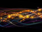 Visualization of Dynamic Network — Stock Photo
