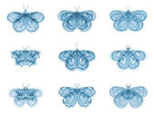 Metaphorical Fractal Butterflies — Stock Photo