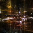 Lights of Fractal Metropolis — Stock Photo