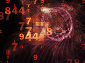 Advance of Numbers — Stock Photo
