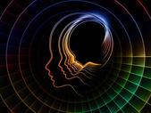 Ruhun geometrisi ortaya çıkması — Stok fotoğraf