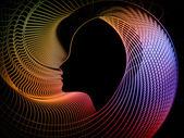 La geometría de alma creciente — Foto de Stock