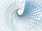 разворачивающихся души геометрии — Стоковое фото
