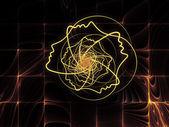 метафорический душа геометрия — Стоковое фото