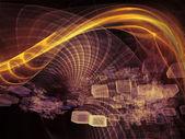 As meditações nos reinos de fractal — Fotografia Stock