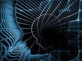 Spiegamento della geometria di anima — Foto Stock