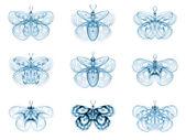 Virtuální fraktální motýli — Stock fotografie