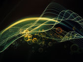 Kavramsal fraktal dalgalar — Stok fotoğraf