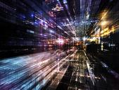 Luzes da metrópole do futuro — Fotografia Stock