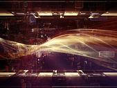 能量的分形境界 — 图库照片