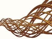 Золотая спираль — Стоковое фото