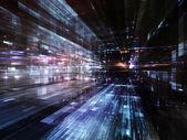 Lights of Future Metropolis — Stock Photo