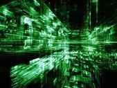 Visualización de ciudad digital — Foto de Stock