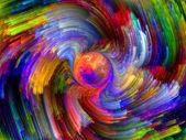 Färgen abstraktion — Stockfoto