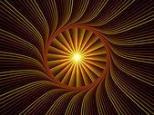 Fraktal burst abstraktion — Stockfoto