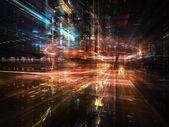 Virtual City — Stock Photo
