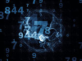 Digital Life of Numbers — Stock Photo