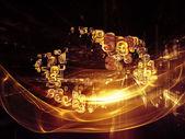 Digitale fractal rijken — Stockfoto