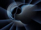 La continuazione della geometria di anima — Foto Stock