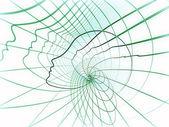 Paradigma der seele geometrie — Stockfoto