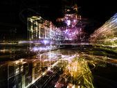 Lights of Future City — Stock Photo