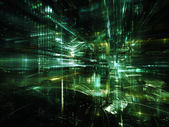 Hacia la ciudad digital — Foto de Stock
