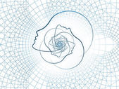 Výpočetní geometrie duše — Stock fotografie