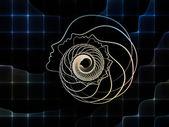 Sinerji ruhun geometrisi — Stok fotoğraf