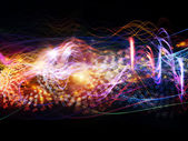 Visualization of Dynamic Waves — Stock Photo