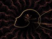 A continuação da geometria de alma — Foto Stock