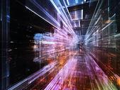 Světla budoucnosti města — Stock fotografie