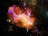 Fractal Nebula — Stock Photo