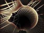 Seele geometrie zusammensetzung — Stockfoto