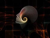 Synergien der seele geometrie — Stockfoto