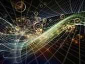 Виртуальный фрактальных миров — Стоковое фото