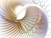 Появление душа геометрии — Стоковое фото