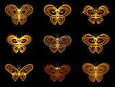 Selection of Fractal Butterflies — Stock Photo