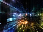 Luces de la ciudad del futuro — Foto de Stock