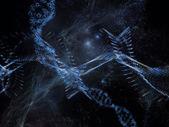 Organic Molecules Background — Stock Photo