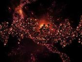 Organic Molecules Backdrop — Zdjęcie stockowe