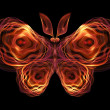 Stock Photo: Butterfly Visualization