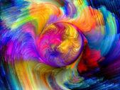 Kleurrijke beweging — Stockfoto